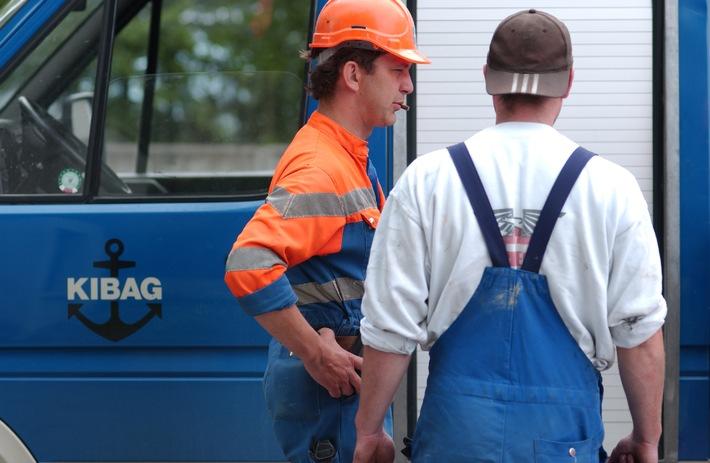 KIBAG: Vorbildliche Arbeitssicherheit im Bau