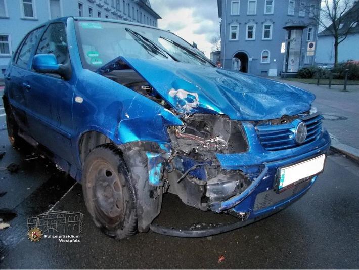 Der VW Polo hätte eigentlich Vorfahrt gehabt...