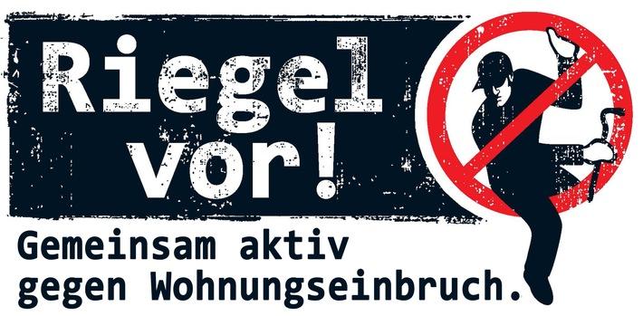 Symbolbild: Das Logo der Landeskampagne Riegel vor.