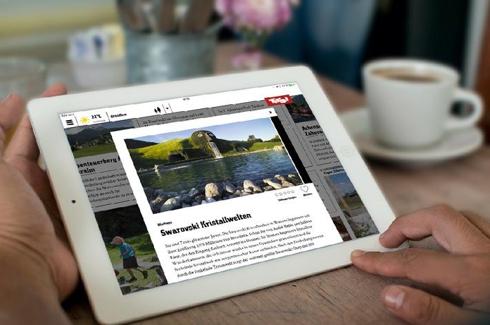 Die neue Tirol Reiseführer App listet mehr als 200 Ausflugsziele und Sehenswürdigkeiten.