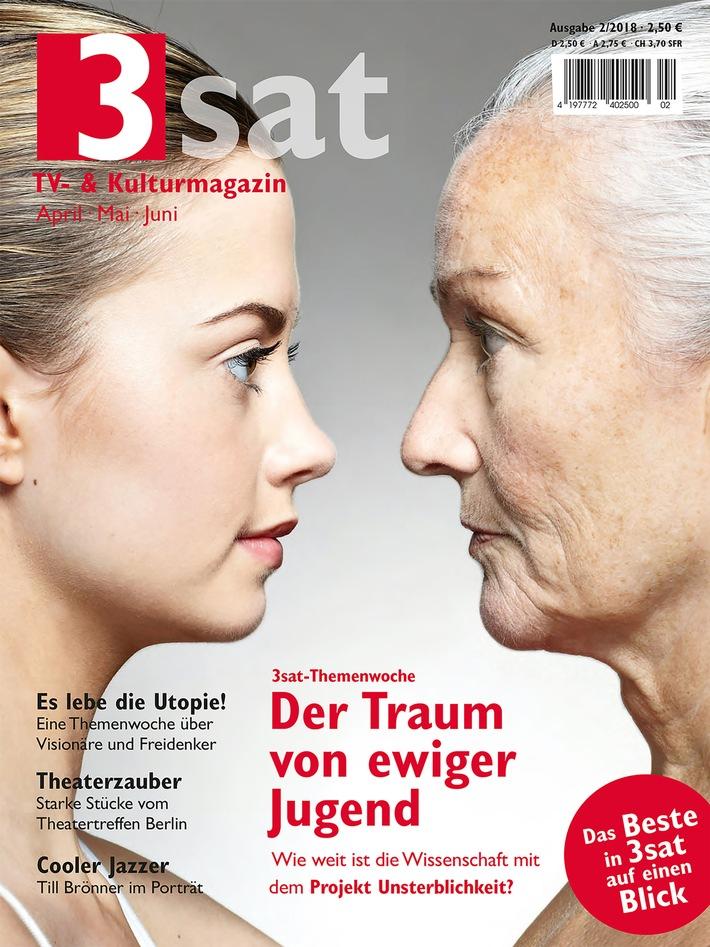 """Das neue """"3sat TV- & Kulturmagazin"""" mit dem Besten aus 3sat von April bis Juni ist ab 16. März 2018 im Handel. Weiterer Text über ots und www.presseportal.de/nr/6348 / Die Verwendung dieses Bildes ist für redaktionelle Zwecke honorarfrei. Veröffentlichung bitte unter Quellenangabe: """"obs/3sat/ZDF/Getty/Cultura Excl./Norris"""""""