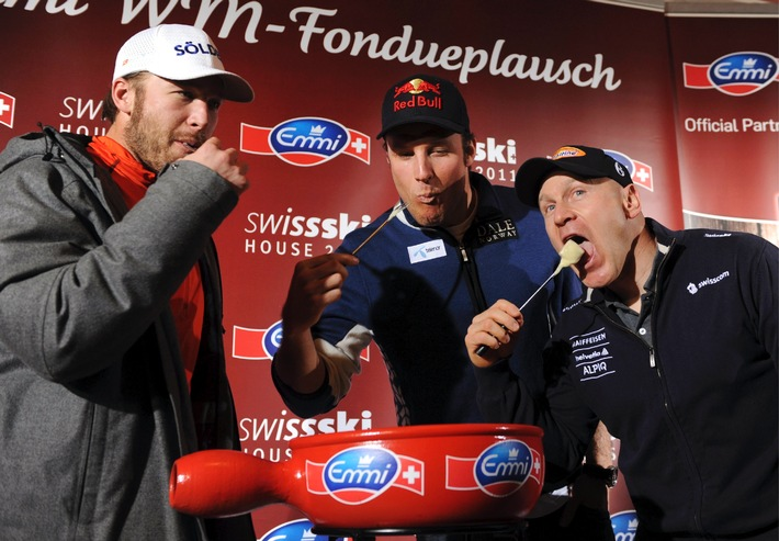 World-class fondue evening with Cuche, Svindal and Miller