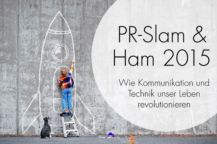 """Weltraumfahrer, Zukunftsforscher und Slam Poetry - Neue Veranstaltungsreihe """"PR-Slam & Ham 2015"""" von news aktuell"""