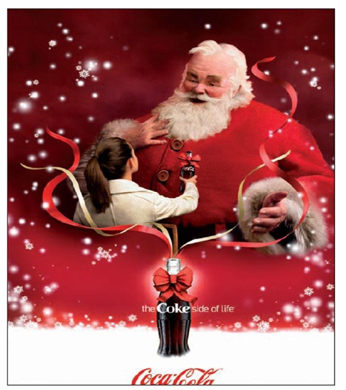 Image Pere Noel Coca Cola.Coca Cola Distribue Des Cadeaux Qui Nous Permettront De