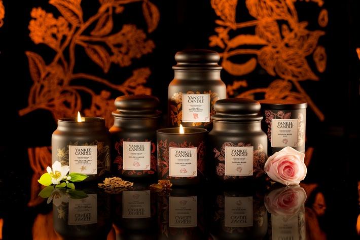 Die neue Gold Kollektion von Yankee Candle kombiniert Luxus und Wohlbefinden