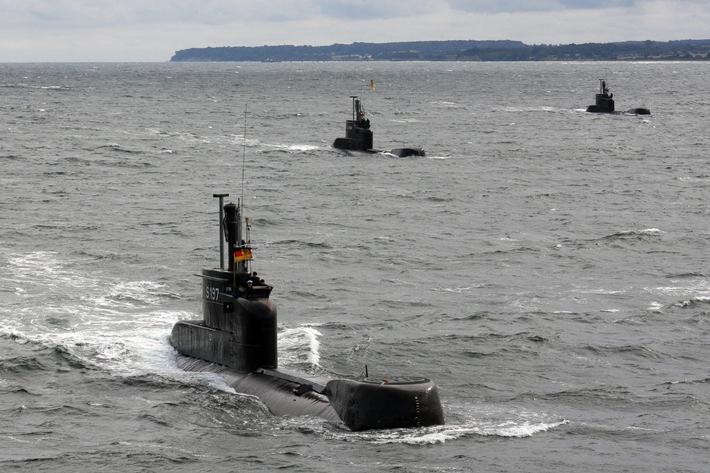Uboote der Klasse 206 A in See. Foto: Ann-Kathrin Fischer, PIZ Marine.