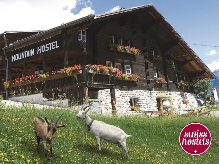 """Swiss Hostel mit """"Heidi-Feeling"""" Weiterer Text über ots und www.presseportal.ch/de/nr/100064077 / Die Verwendung dieses Bildes ist für redaktionelle Zwecke honorarfrei. Veröffentlichung bitte unter Quellenangabe: """"obs/Swiss Hostels/Swîss Hostels"""""""