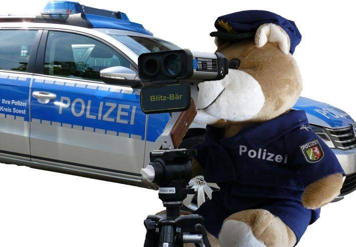 Beispielbild Blitzbär ///   Das zum Download angebotene Foto darf nur mit Fotonachweis (Foto: Polizei) und gemeinsam mit der Pressemitteilung verwendet werden, in deren Zusammenhang es veröffentlicht wurde. Eine gesonderte Verwendung des Fotos ist nicht gestattet.