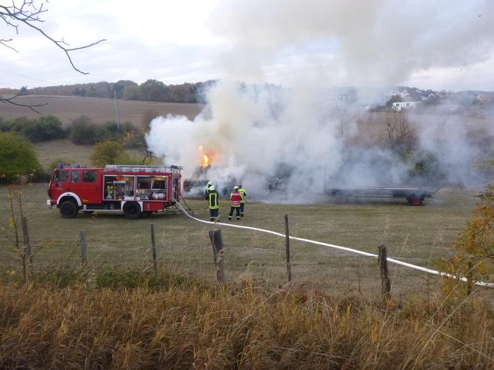 Erneute Brandstiftung an Heuballen in Kirchheimbolanden