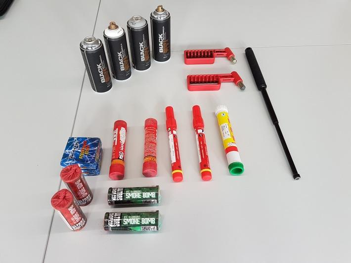Beschlagnahmte Gegenstände