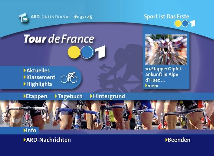 ARD Digital startet interaktives Special zur Tour de France / Interaktiver Ergebnisdienst auf Abruf parallel zur Live-Berichterstattung