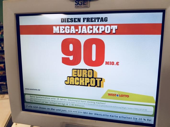 Beim Eurojackpot bleiben die 90 Millionen stehen / Eine weitere Woche Hochspannung und die Chance auf 20 Millionen in der zweiten Gewinnklasse