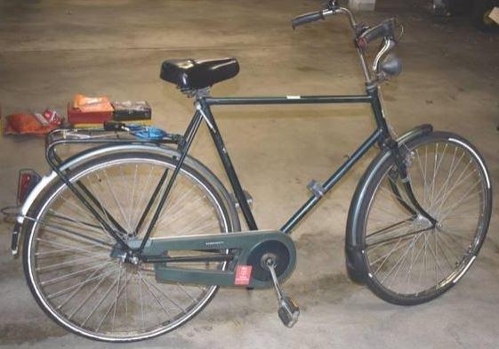 Wer kann Hinweise zu dem grünen Herrenrad geben?