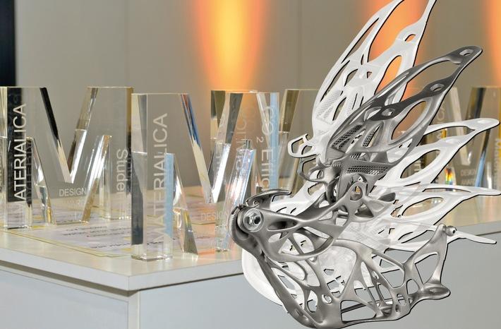 ?Ultraleichtes Haubenscharnier in industriellem 3D-Druck? gewinnt MATERIALICA Award in Gold