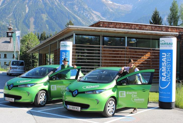 Einmal mehr Vorreiter: Ramsau am Dachstein stellt kompletten Fuhrpark auf E-Cars um - BILD