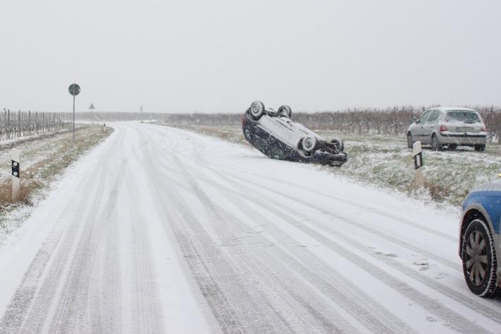 POL-PDWO: Bei Schnee zu schnell