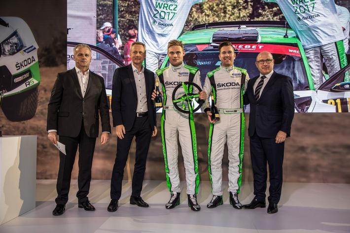 SKODA feiert erfolgreichstes Motorsportjahr - WRC 2-Champion und 14 nationale Titel
