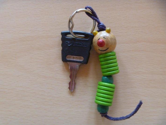 """Sichergestellter Schlüssel """"Raupe"""""""