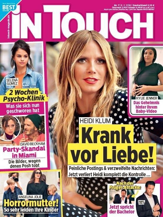 """Cover InTouch 7/2018. Weiterer Text über ots und www.presseportal.de/nr/59675 / Die Verwendung dieses Bildes ist für redaktionelle Zwecke honorarfrei. Veröffentlichung bitte unter Quellenangabe: """"obs/Bauer Media Group, InTouch/InTouch"""""""