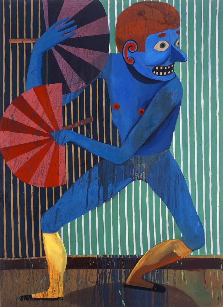 Christoph Ruckhäberle, Dancer II, 2007, Oil on canvas, 220 x 160 cm, Collection Laszlo Gero, Budapest