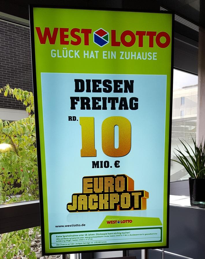 Eurojackpot geht mit 10,5 Mio. Euro erneut nach Nordrhein-Westfalen