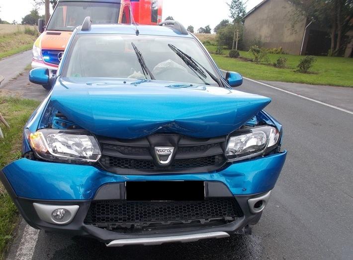 POL-MI: Vier Verletzte bei Auffahrunfall