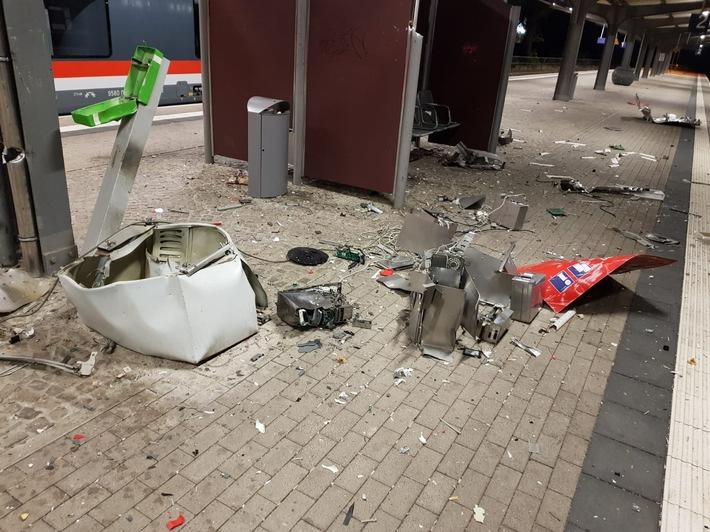 zerstörter Fahrausweisautomat Bf Güsten
