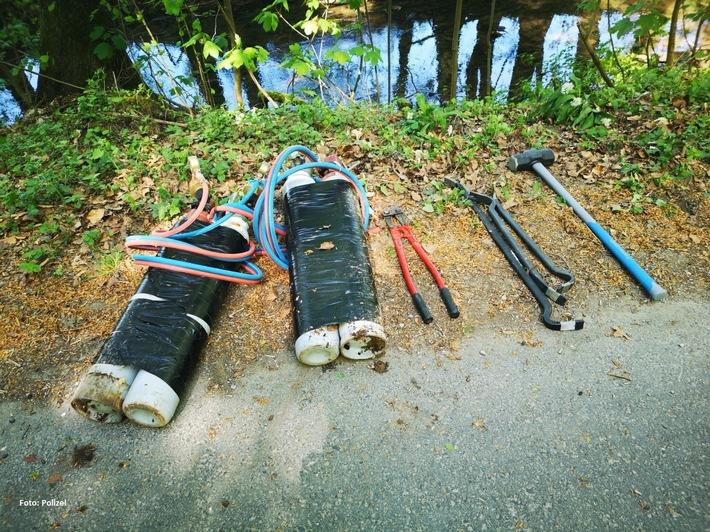 POL-MA: Spechbach: Gasflaschen, Brecheisen und Vorschlaghammer in Lobbach gefunden; Zeugen gesucht