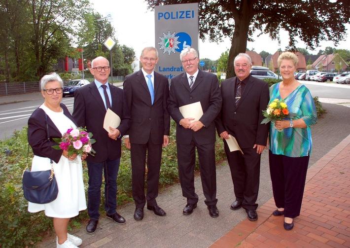 v.l.: Ruth und Günter, Dr. Ansgar Hörster, Wilfried Schubert, Bernd und Henrike Naber