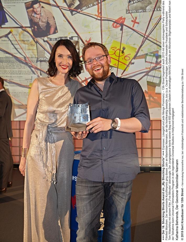 Maximilian Niemann gewinnt 16. Shocking Shorts Award von 13th Street