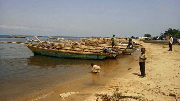 Fishing boats at Lake Tanganyika
