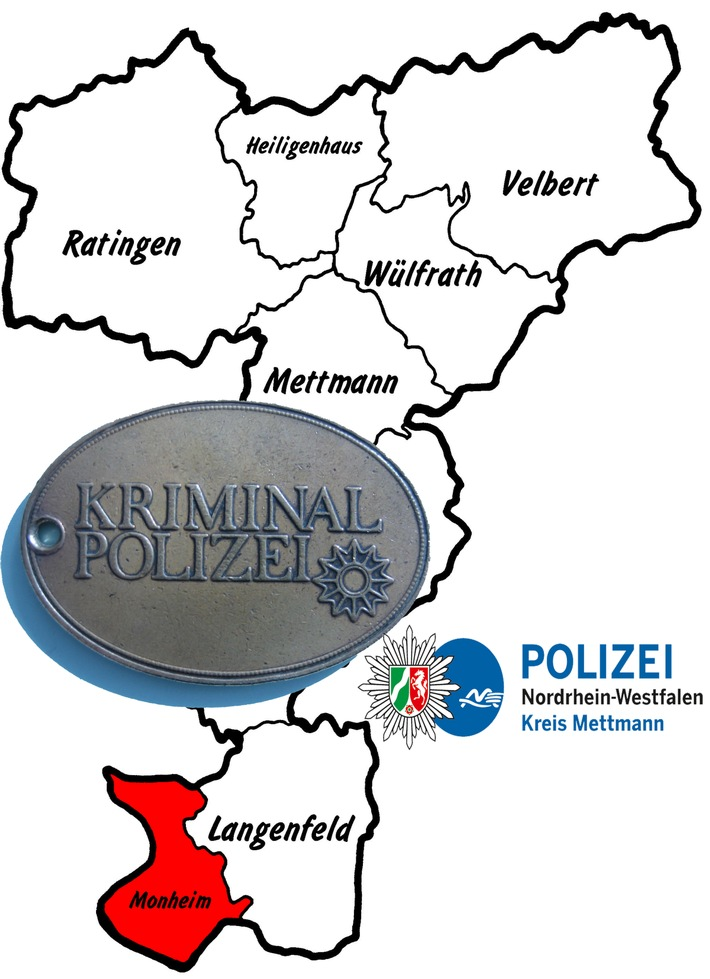 Symbolbild: Die Kriminalpolizei ermittelt nach bewaffnetem Raub in Monheim am Rhein