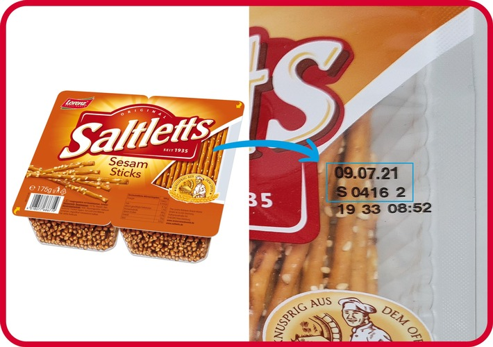 Produktrückruf Saltletts Sesam Sticks / Lorenz Snack-World ruft vorsorglich Produkte mit Sesamsamen in Deutschland zurück / Weiterer Text über ots und www.presseportal.de/nr/67710 / Die Verwendung dieses Bildes ist für redaktionelle Zwecke honorarfrei. Veröffentlichung bitte unter Quellenangabe: