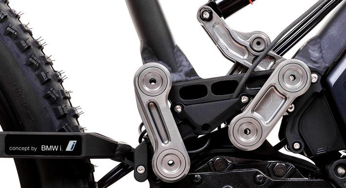 BMW i Patent treibt eBike an / Neuartige Triebsatzschwinge geht bei Pedelec-Manufaktur HNF Heisenberg in Produktion