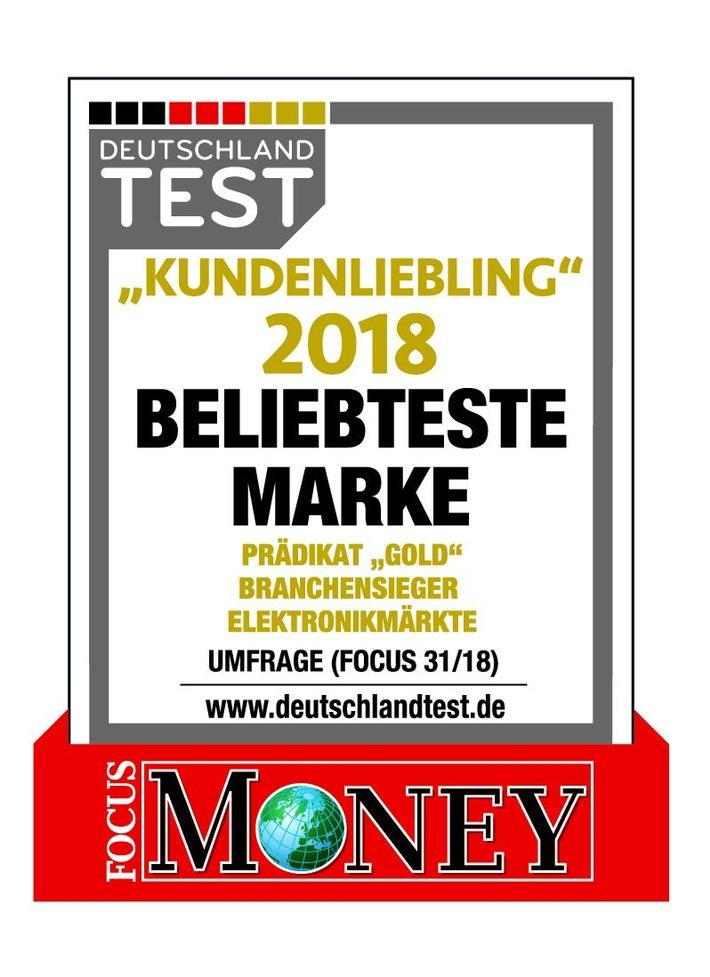 """Focus Money Studie ergibt: EURONICS Deutschland eG ist """"Kundenliebling 2018"""" / Weiterer Text über ots und www.presseportal.de/nr/72510 / Die Verwendung dieses Bildes ist für redaktionelle Zwecke honorarfrei. Veröffentlichung bitte unter Quellenangabe: """"obs/EURONICS Deutschland eG"""""""