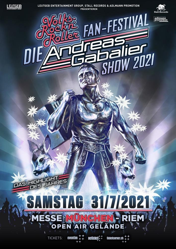 BILD zu OTS - Konzertverschiebung: ?DIE? ANDREAS GABALIER SHOW 2021 in München | 365 - Die magische Zahl für alle Volks-Rock´n´Roller Fans!