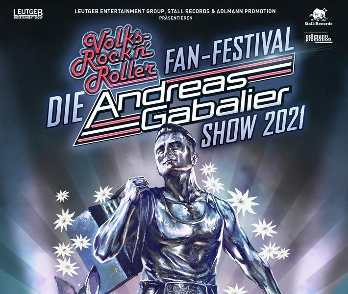 """BILD zu OTS - Konzertverschiebung: """"DIE"""" ANDREAS GABALIER SHOW 2021 in München   365 - Die magische Zahl für alle Volks-Rock´n´Roller Fans!"""