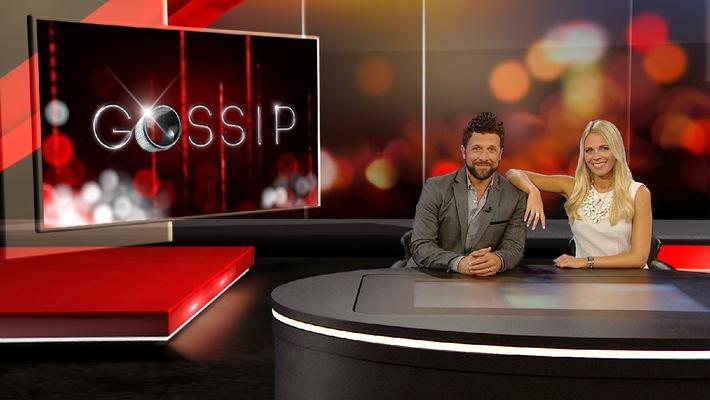"""So hat noch niemand Promis behandelt: """"Gossip - Das Entertainment-Magazin"""" mit Julia Josten und Florian Ambrosius ab Mittwoch, 10. September 2014, 22.15 Uhr"""
