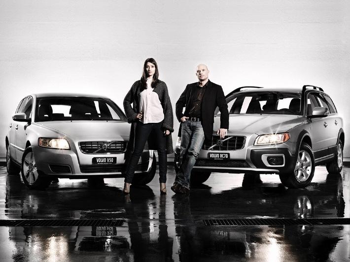 Les nouveaux ambassadeurs Volvo - Actrice Melanie Winiger et navigateur professionnel Christian Scherrer