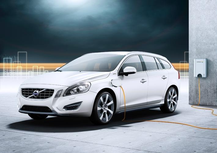 Weltpremiere am Automobilsalon Genf - Der Volvo V60 Plug-in Hybrid als 3-in-1-Modell