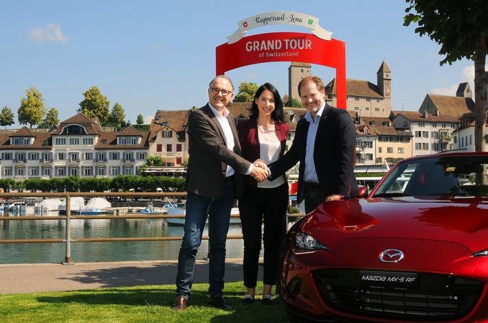 Mazda est le nouveau partenaire officiel du Grand Tour of Switzerland