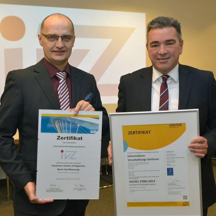 IT-Dienstleister IVZ erhält Zertifikate für Datensicherheit und Service (FOTO)