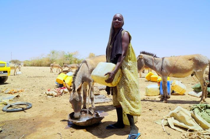 """Help engagiert sich weltweit für Menschen in Not. Im Tschad versorgt die Hilfsorganisation """"Help - Hilfe zur Selbsthilfe"""" die Menschen mit sauberem Trinkwasser durch solarbetriebene Brunnen."""