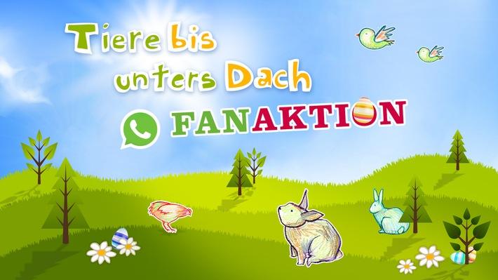 """Neue Staffel """"Tiere bis unters Dach"""" startet Ostern mit """"Whatsapp-Fan-Aktion"""""""