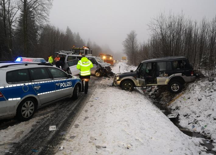 Verkehrsunfall auf der B 241 bei Buntenbock