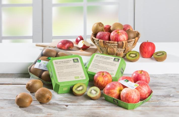 Bio-Obst jetzt in allen NORMA-Filialen mit umweltschonenden Verpackungen aus Gras / Discounter aus Nürnberg forciert umweltfreundliche Verpackungen (FOTO)