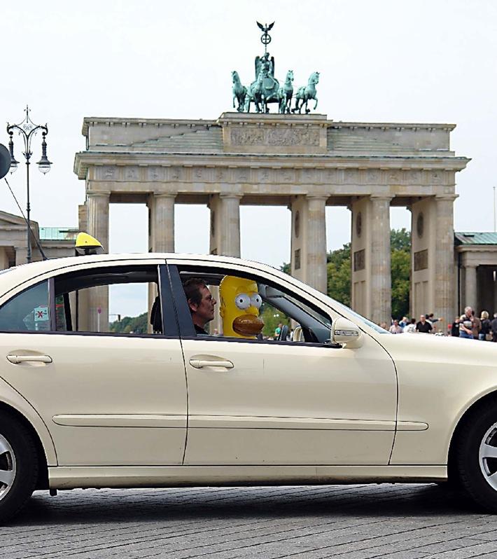 Merkel zittert vor Homer Simpson