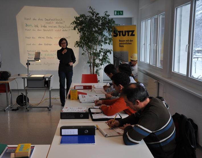 Schweizerischer Baumeisterverband: Erfolgreiche Baustellen-Sprachkurse werden auf andere Landesteile ausgedehnt (BILD)