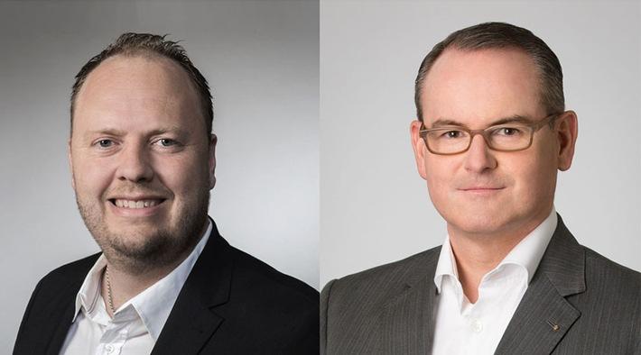 Peter Moog, CEO der EVANA AG, Herwig Teufelsdorfer, COO der BUWOG Group (v.l.)