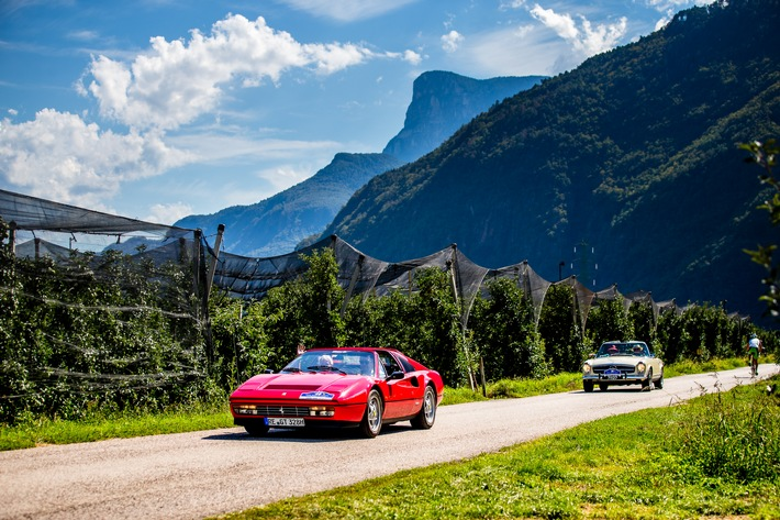 Traumstraßen und Traumautos in Südtirol: Die Route der ADAC Europa Classic 2021